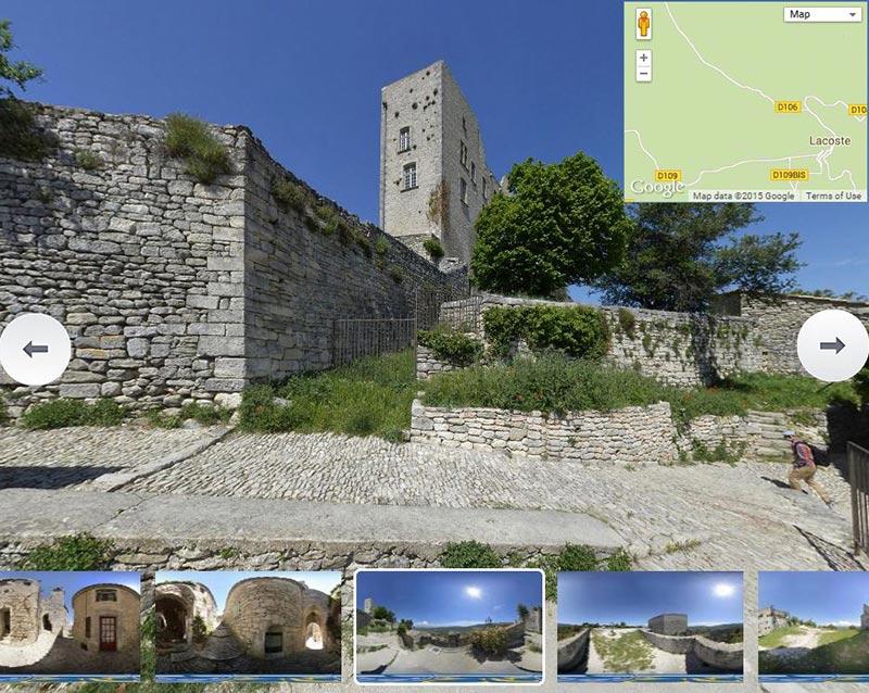 Cliquez  pour voir la visite virtuelle du village de lacoste dans le luberon