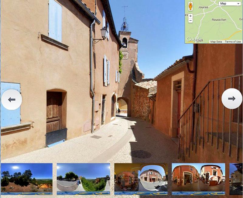 visite virtuelle du village de Roussillon dans le luberon